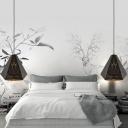 Diamond Ceiling Pendant Light Modern Metal 1 Light Black Suspension Lamp for Bedside