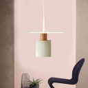 Cylinder Hanging Lamp Nordic Metal 1 Bulb Copper Pendant Light Fixture, 8