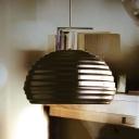Chrome Hemisphere Hanging Lighting Modernism 1 Head Metal Ceiling Suspension Lamp