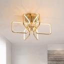 Postmodern Rectangle Semi Flush Light Acrylic Bedroom 23.5