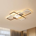 Brown Traverse Ceiling Mounted Light Contemporary Acrylic 27.5