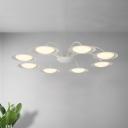 Minimalist Starburst Pendant Light Kit Metal 8 Heads Living Room Chandelier Light