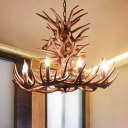 Antler Ceiling Chandelier Farmhouse 9 Heads 23