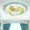 Shell Beige Flush Mount Ceiling Light Bowl 12