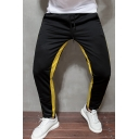 Hot Popular Colorblock Stripe Side Drawstring Waist Skinny Fit Sports Pants