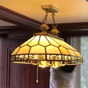 Faceted Restaurant Island Chandelier Colonial Opal Blown Glass 12 Heads Gold Hanging Ceiling Light