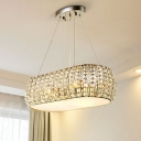 Laser-Cut Chandelier Lighting Traditionary Crystal 6 Bulbs Gold Ceiling Pendnat Light for Dining Room
