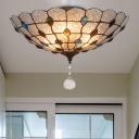Clear Bubble Glass Flush Mount Ceiling Light Beaded 2/3/4 Lights 12