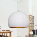 Global Ceiling Light Nordic Metal 1 Head Black/White Suspended Lighting Fixture, 10