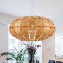 Lantern Ceiling Lamp Chinese Wood 16
