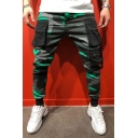 Hipster Hip Hop Camouflage Printed Big Pocket Skinny Fit Active Pants for Teen