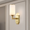 Metal Armed Wall Lighting Modernism 1 Head Gold Sconce Light Fixture for Living Room
