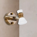 Brass Cone Vanity Lighting Fixture Traditional Metal 1/2/3-Bulb LED Bathroom Wall Mounted Lamp in Warm/White Light