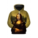 Famous Oil Painting 3D Pattern Long Sleeve Oversized Pullover Hoodie