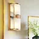 Half Cylinder Printed Glass Wall Lamp 8