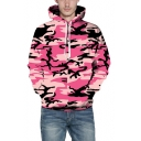 Hot Fashion Digital Camouflage Pattern Long Sleeve Unisex Hoodie