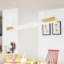 Simple Style Rectangle Chandelier Lighting Fixture Dining Room LED Pendant Light Kit in Warm/White Light