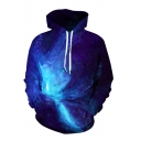 Unique Fashion Starry Sky Galaxy Digital Printed Long Sleeve Unisex 3D Casual Hoodie