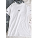 Cute Casual Short Sleeve Crew Neck Letter FRI Heart Print Relaxed T Shirt for Girls