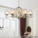 Silver Domed Chandelier Light Fixture Traditional Crystal 8/10 Lights Living Room Hanging Lamp Kit