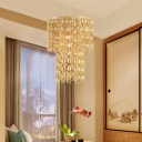 Round Bamboo Hanging Lamp Modern 1 Light Beige Pendant Lighting Fixture for Living Room