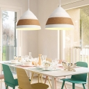 Wide Flare Hanging Light Modernism Metal 1 Head White Ceiling Suspension Lamp, 9