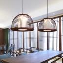 Domed Pendant Lighting Asia Bamboo 14