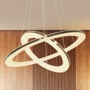 Gyro Metal Pendant Light Fixture Modern Chrome 23.5