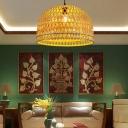Bamboo Half-Circle Hanging Light Modern Style 13