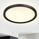Metal Disc Ceiling Mounted Fixture Minimalist Black/White LED Flush Light in Warm/White Light, 16