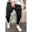 Metrosexual Men's Plain Drop-Crotch Loose Fit Basic Harem Pants