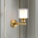 Metal Armed Wall Lighting Modernist 1 Bulb Brass Sconce Light Fixture for Bedroom
