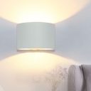 White Tubular Sconce Modernism LED Metal Wall Mounted Light Fixture in White/Warm Light