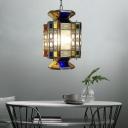 Brass Lantern Pendant Chandelier Art Deco Metal 3 Heads Dining Room Hanging Ceiling Light