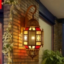Metal Brass Wall Lighting Incense Burner Shape 1 Head Traditional Wall Sconce Lamp for Corridor
