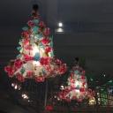 1-Bulb Metal Hanging Light Fixture Industrial Pink/Light Pink Rose/Cherry Blossom Restaurant LED Down Lighting