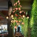 Black 6/8 Heads Chandelier Lighting Industrial Metal Tapered LED Flower Suspension Pendant for Restaurant