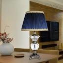 Blue 1 Bulb Night Light Traditional Prismatic Optical Crystal Urn Shape Table Lamp