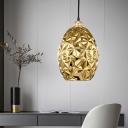 Jar Hanging Light Modernism Gold Glass 1 Bulb Living Room Suspended Lighting Fixture