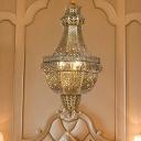 Brass Teardrop Chandelier Light Vintage Metal 3 Heads Bedroom Suspended Lighting Fixture