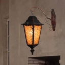 Traditional Tapered Sconce Light Metal 1 Bulb Wall Mounted Lamp in Yellow/Purple/Red for Restaurant