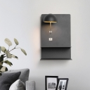 Black Bowl Sconce Light Modern LED Metal Wall Mounted Lighting with Acrylic Diffuser
