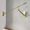 Tube Sconce Contemporary Metal 1 Bulb Wall Mount Light Fixture in Gold with Adjustable Arm  操作:肖玲;时间