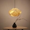 Swirl Ceiling Light Asian Bamboo 16
