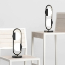 1 Bulb Living Room Table Light Modern White/Black Small Desk Lamp with Circle Acrylic Shade in White/Warm Light