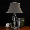 1 Head Table Lamp Simple Living Room Nightstand Light with Urn K9 Crystal in Gray