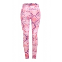 Unique Chic High Waist Snake Pattern Ankle Length Skinny Fit Pants for Girls