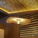 Handwoven Ceiling Light Chinese Bamboo 1 Bulb 14