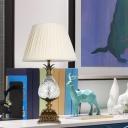 K9 Crystal Pineapple Table Light Traditionalist Single Head Bedroom Nightstand Lamp in White
