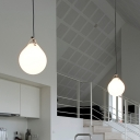 Droplet Hanging Light Contemporary White Glass 7